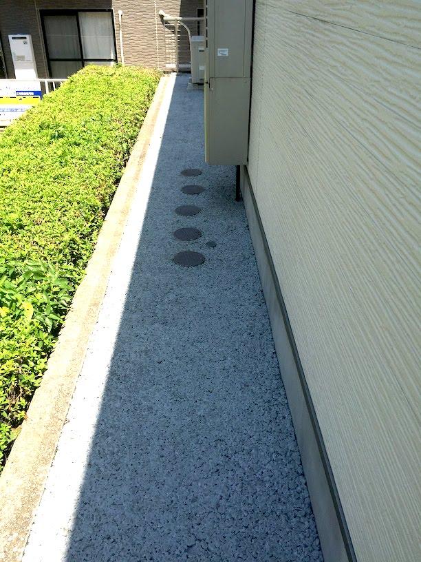 After 全く草が無くなった透水性コンクリート ドライテック施工後。