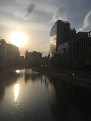博多中州の朝。朝はウオーキングとモーニングハントに限る!!!