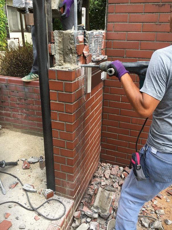 門塀を解体して壊しました!