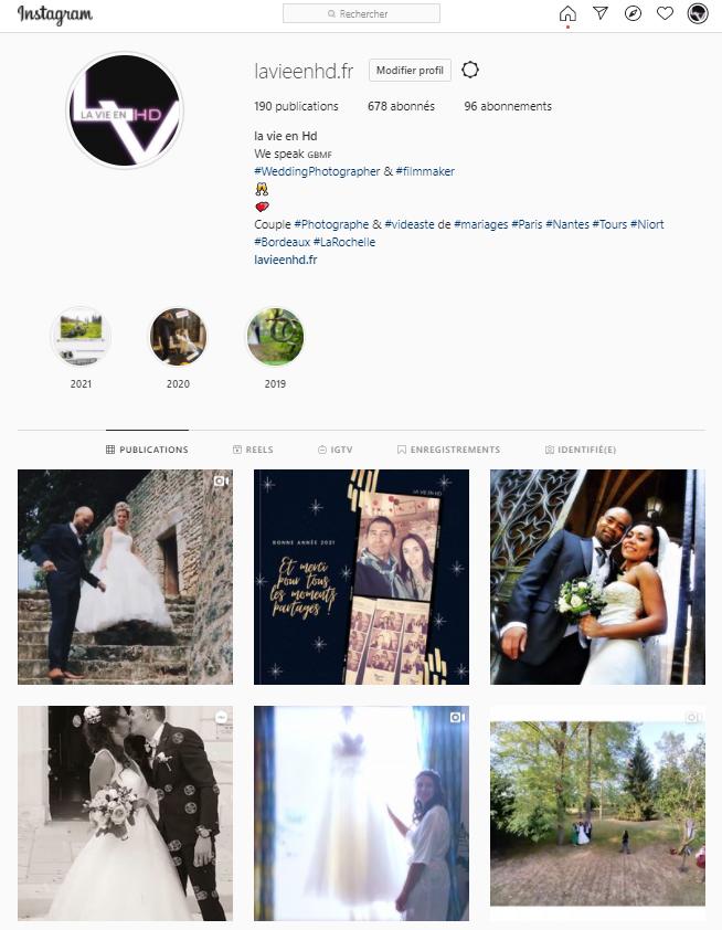 Nous sommes sur Instagram