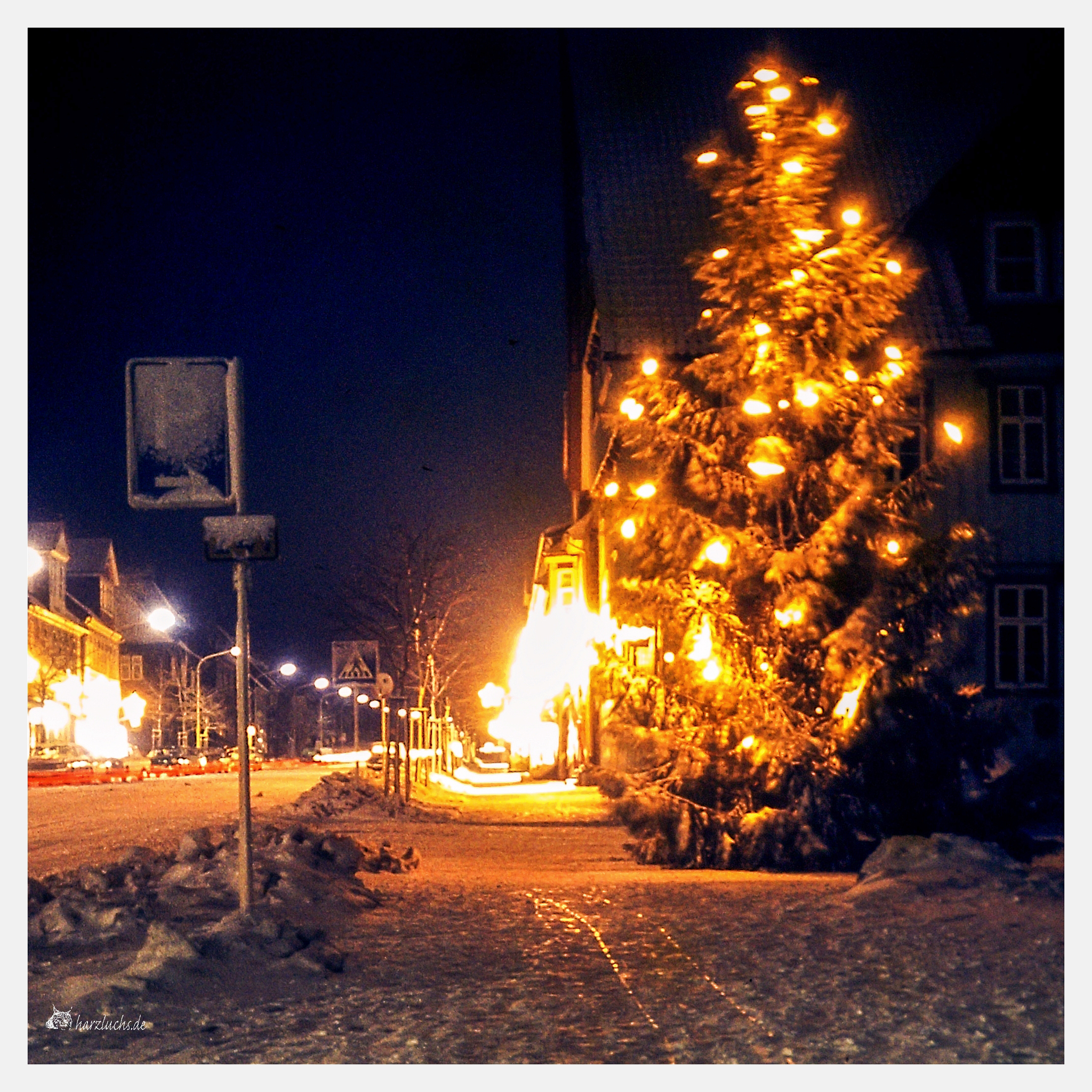 ca. 1968 - die Goslarsche Straße in Zellerfeld