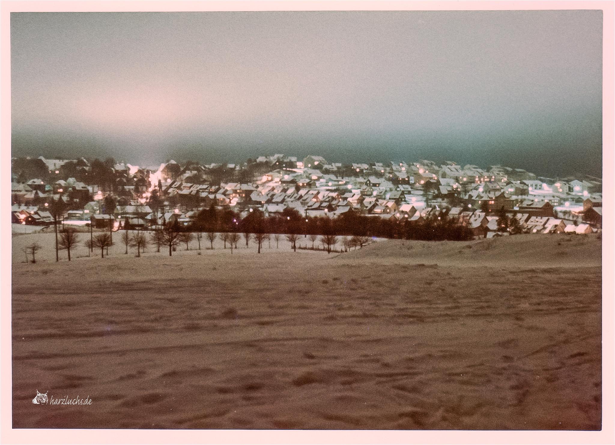 ca. 1968 - Blick auf Clausthal von den Wiesen an den Eschenbacher Teichen