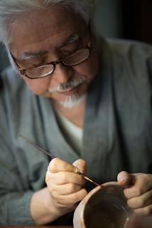 Un bol du 16ème siècle restauré à l'or fin par Showzi Tsukamoto