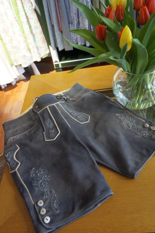 NEU Meindl Lederhose für Damen und Herren in old grey.