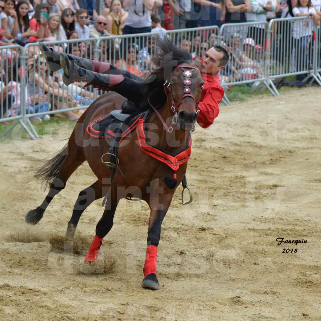 Spectacle Équestre le 3 juin 2018 à Saint Gély du Fesc - Voltige équestre - Troupe de Jean Antoine FIRMIN - 63