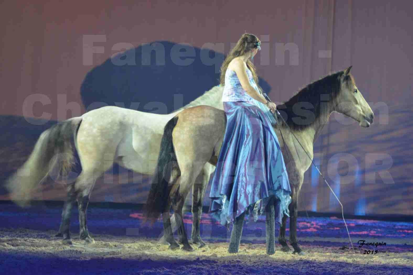 Cheval Passion 2015 - Spectacle des Crinières d'OR - Lucie VAUTHIER & 2 chevaux en liberté - 10