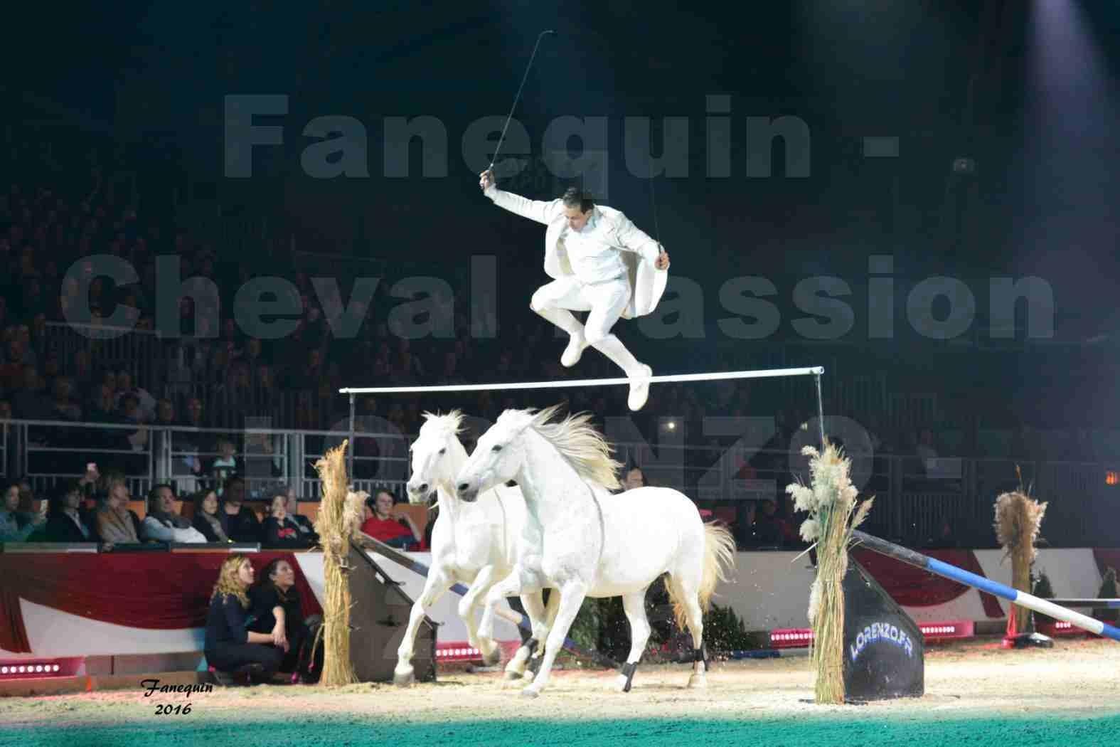 """Cheval Passion 2016 - Spectacle les Crinières d'OR - LORENZO """"Blanc"""" - représentation du 20 janvier 2016 - 04"""