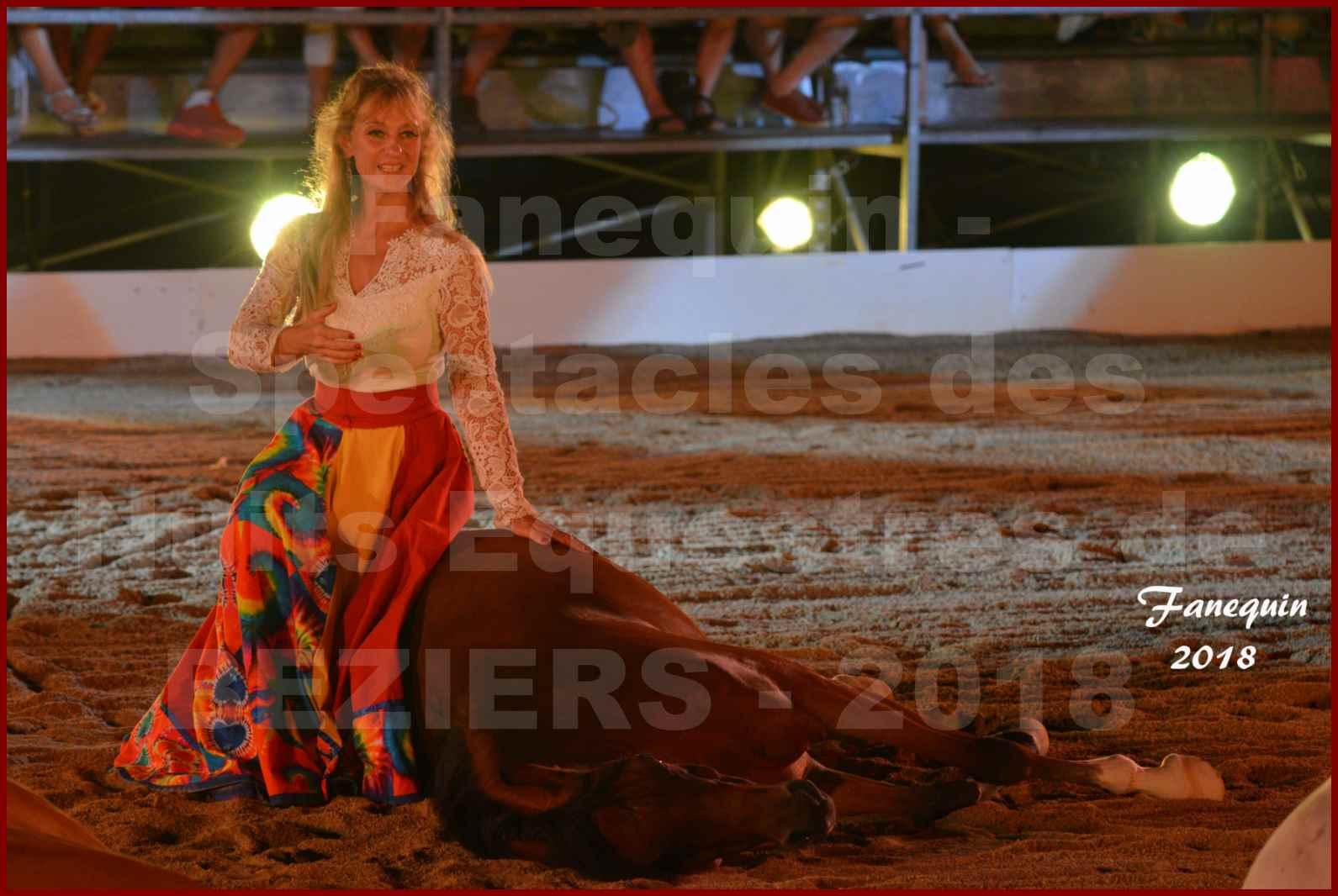 """Spectacles Équestres des """"Nuits Équestres""""  de la Féria de BÉZIERS 2018 - Sylvie WILLMS & ses chevaux en liberté - 08"""