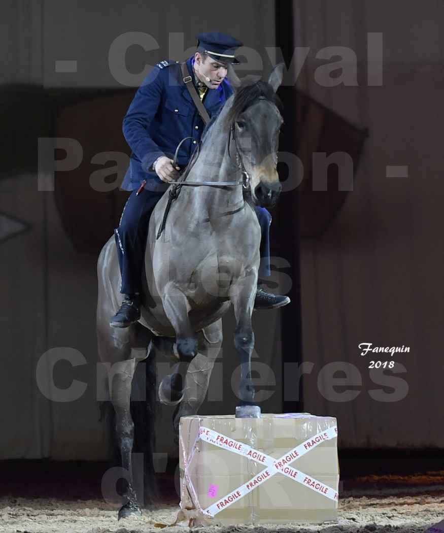 Cheval Passion 2018 - Spectacle les Crinières d'OR - MERCREDI - Le FACTEUR 2 - 3