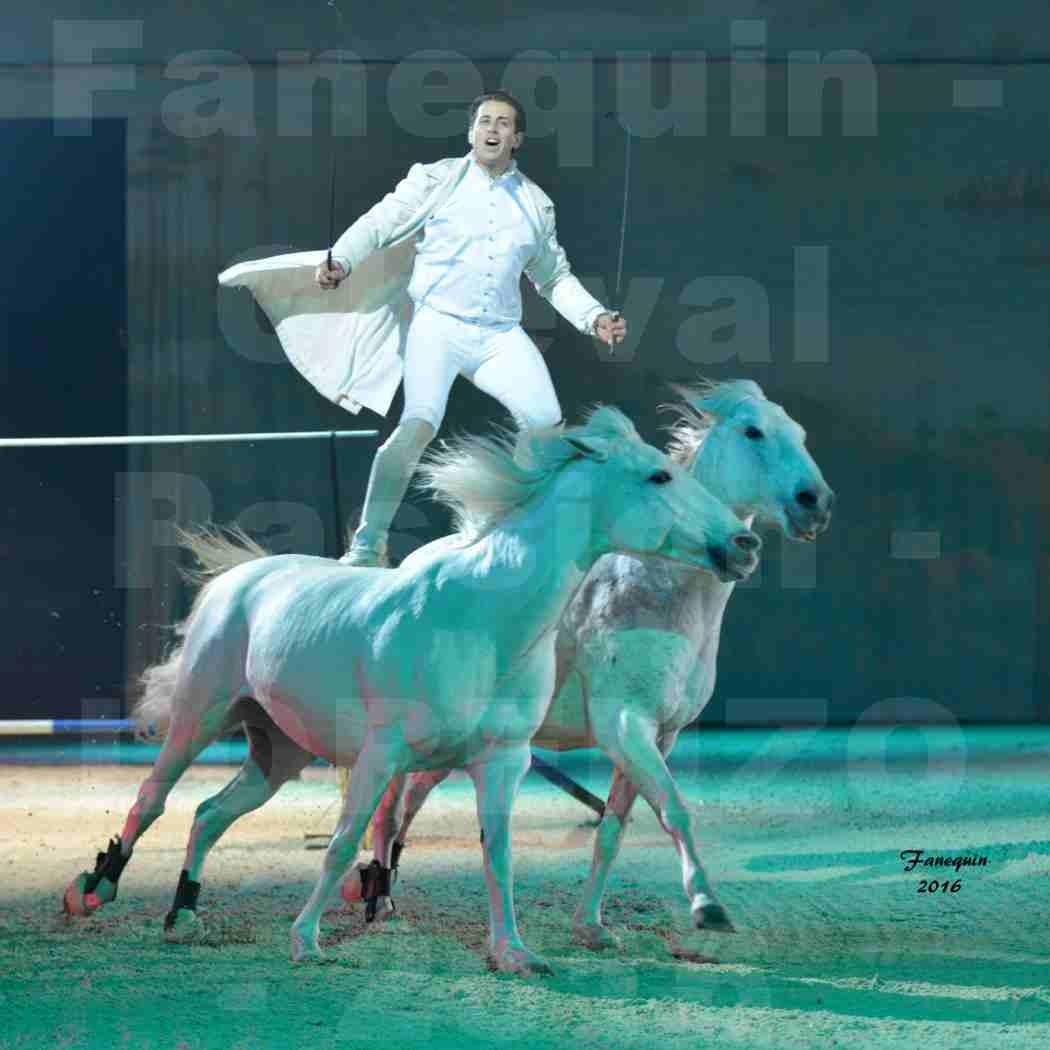 """Cheval Passion 2016 - Spectacle les Crinières d'OR - LORENZO """"Blanc"""" - représentation du 23 janvier 2016 - 09"""
