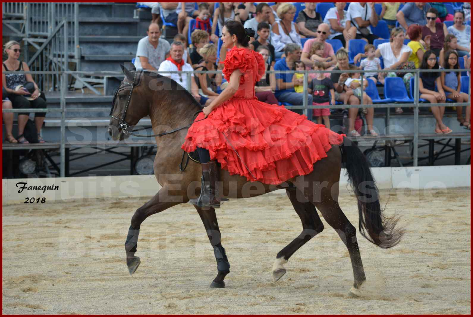 """Spectacle en journée des """"Nuits Équestres""""  de la Féria de BÉZIERS 2018 - Lundi 13 Août - Carrousel de Cavalières - 05"""