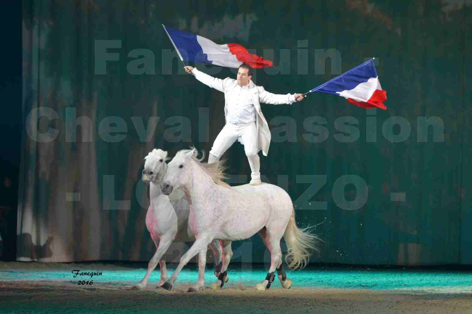 """Cheval Passion 2016 - Spectacle les Crinières d'OR - LORENZO """"Blanc"""" - représentation du 20 janvier 2016 - 01"""