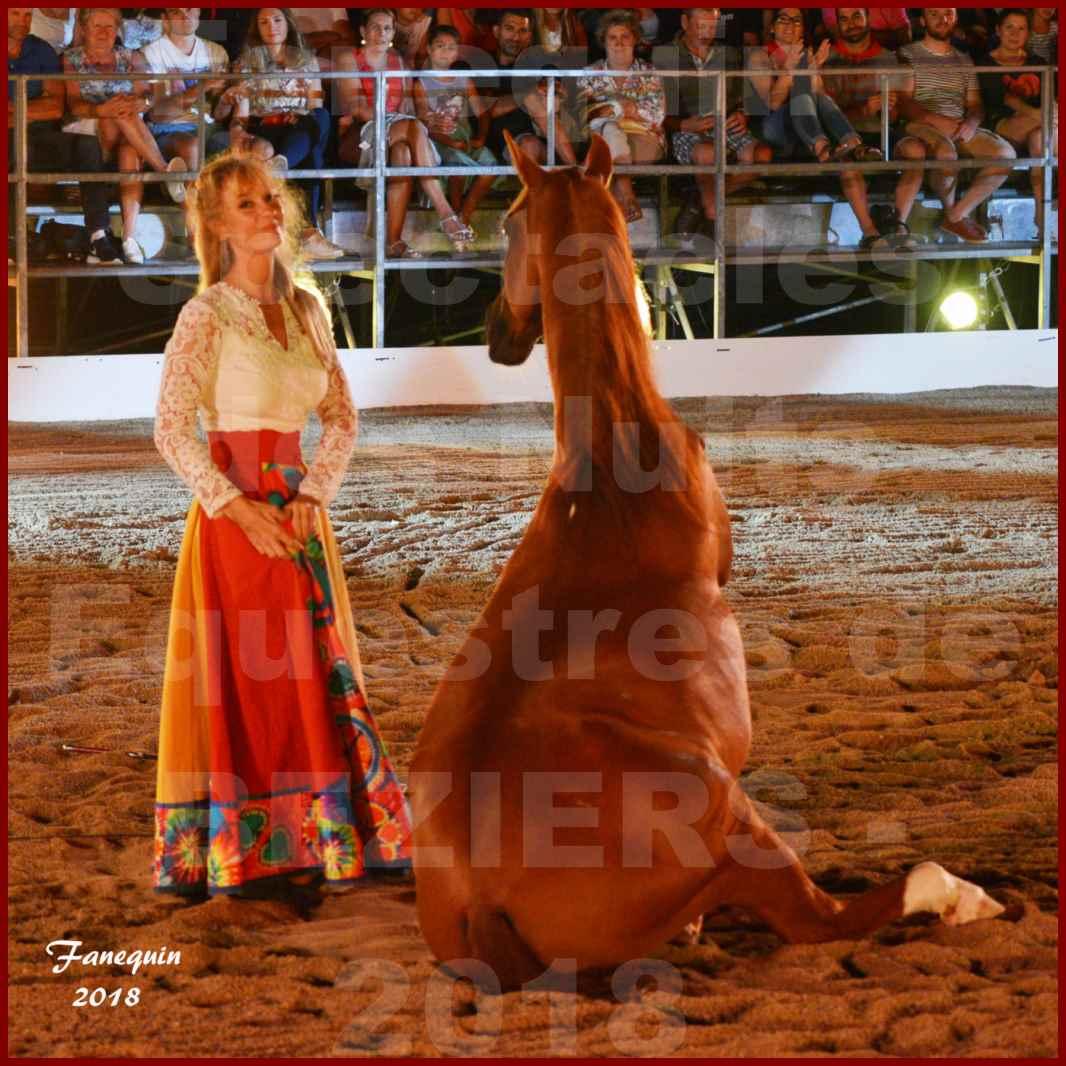 """Spectacles Équestres des """"Nuits Équestres""""  de la Féria de BÉZIERS 2018 - Sylvie WILLMS & ses chevaux en liberté - 10"""