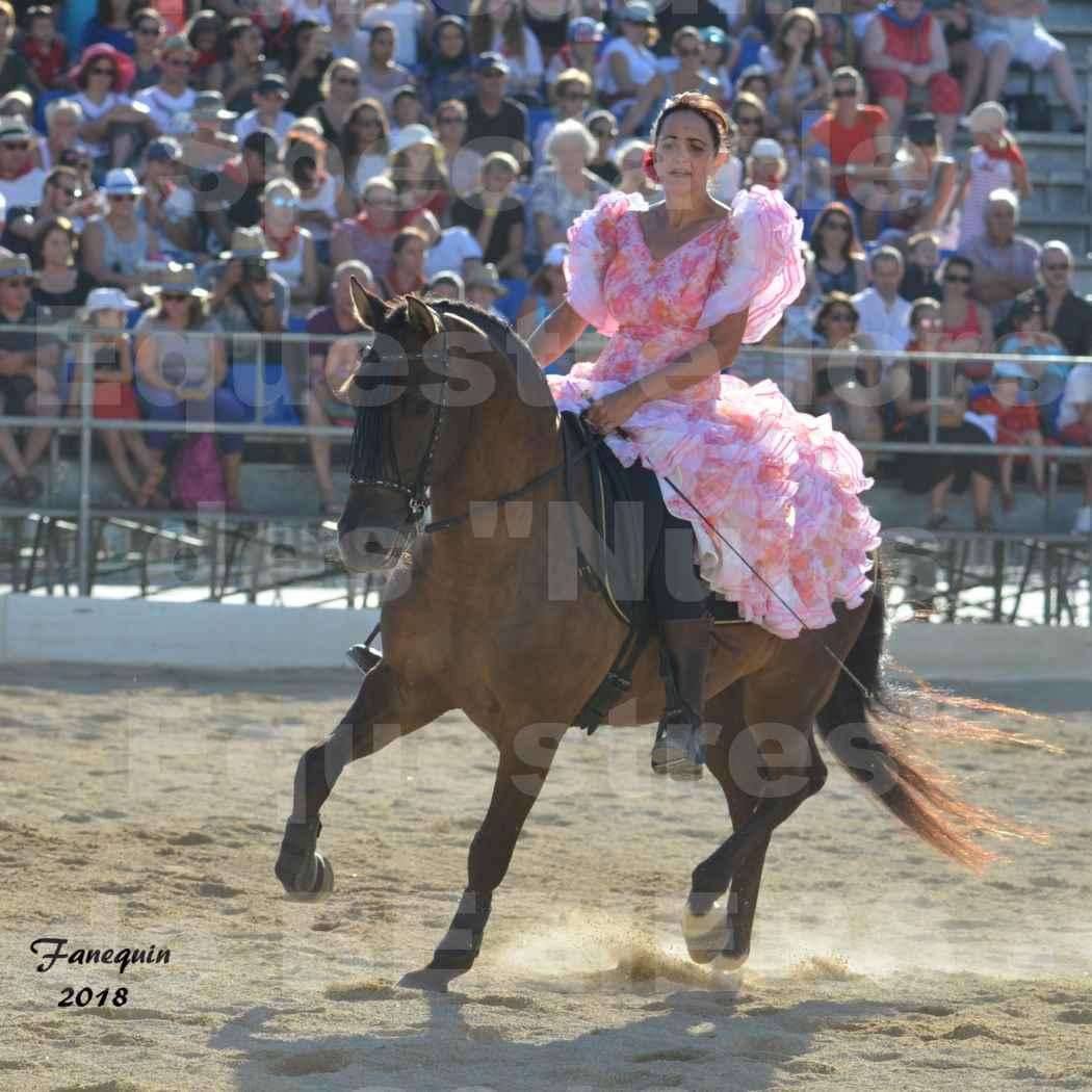 """Spectacle en journée des """"Nuits Équestres""""  de la Féria de BÉZIERS 2018 - Mercredi 15 Août - Carrousel de Cavalières - 08"""