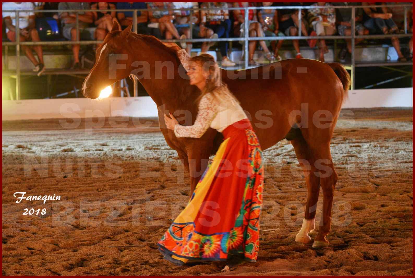 """Spectacles Équestres des """"Nuits Équestres""""  de la Féria de BÉZIERS 2018 - Sylvie WILLMS & ses chevaux en liberté - 11"""