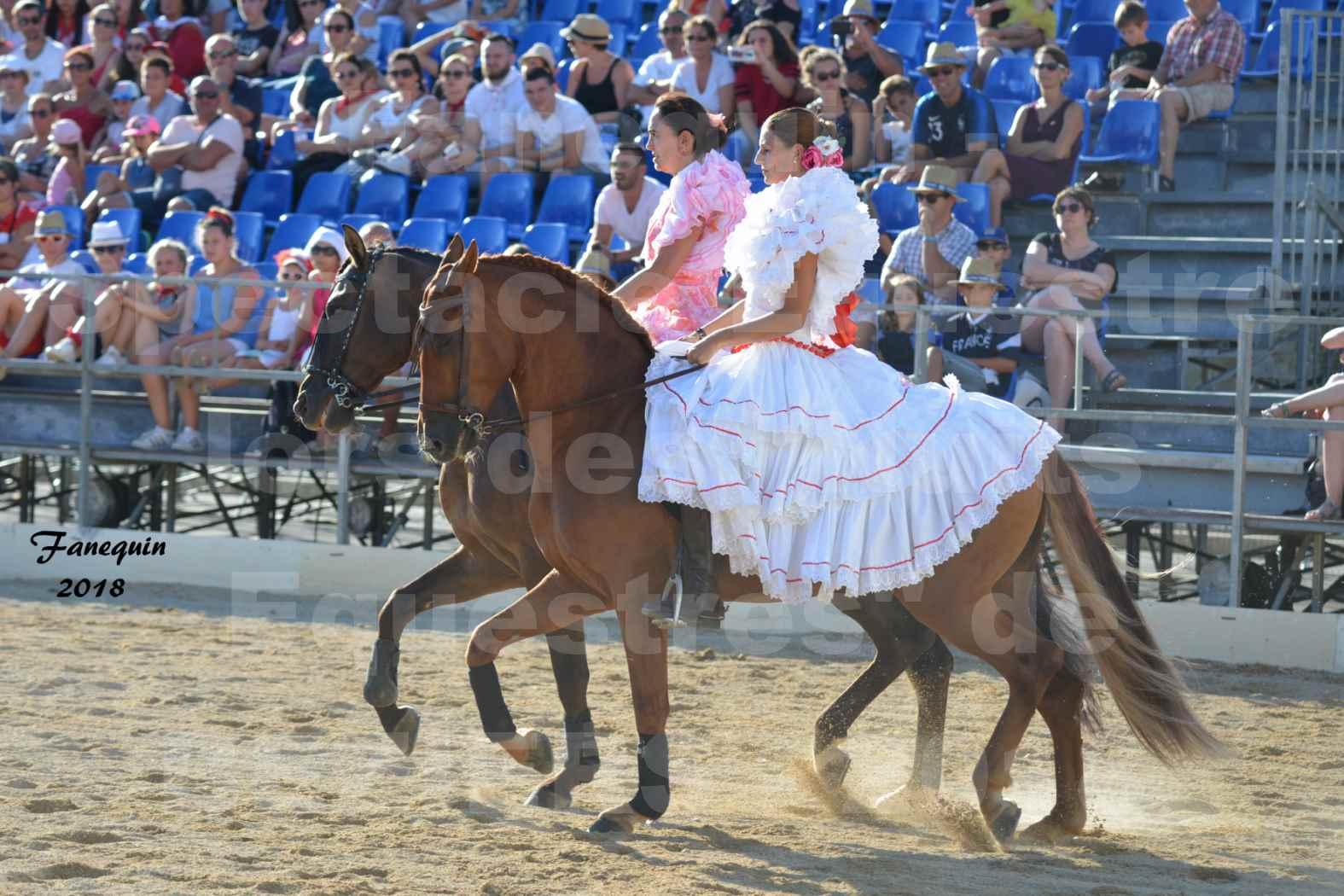 """Spectacle en journée des """"Nuits Équestres""""  de la Féria de BÉZIERS 2018 - Mercredi 15 Août - Carrousel de Cavalières - 09"""