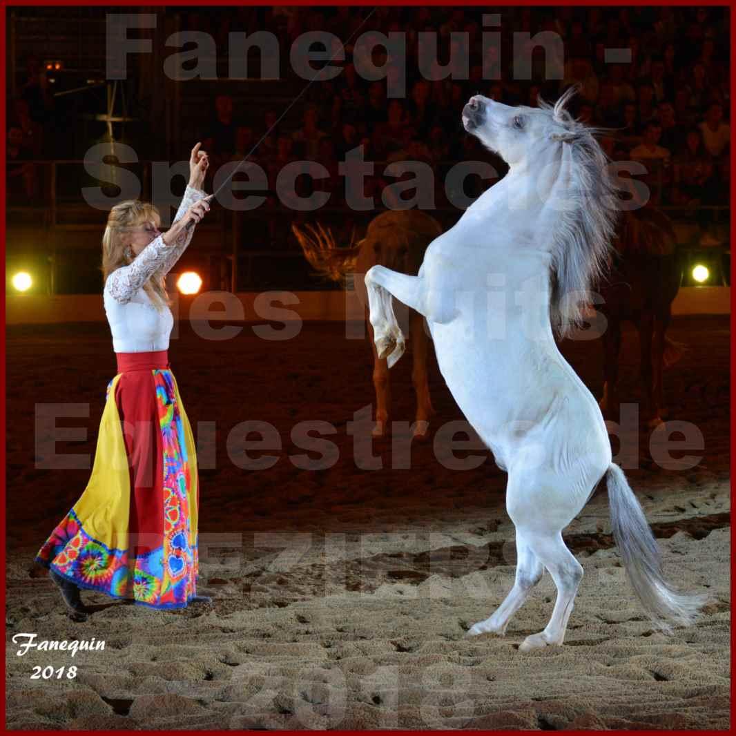 """Spectacles Équestres des """"Nuits Équestres""""  de la Féria de BÉZIERS 2018 - Sylvie WILLMS & ses chevaux en liberté - 06"""