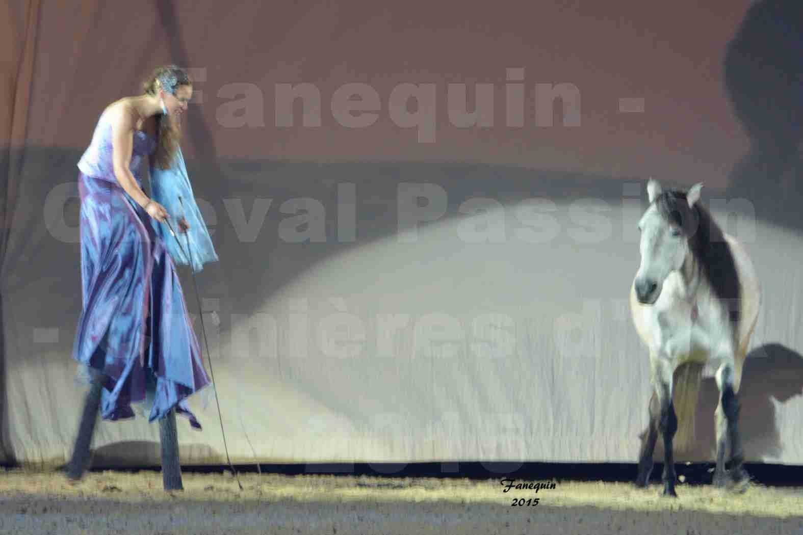 Cheval Passion 2015 - Spectacle des Crinières d'OR - Lucie VAUTHIER & 2 chevaux en liberté - 01
