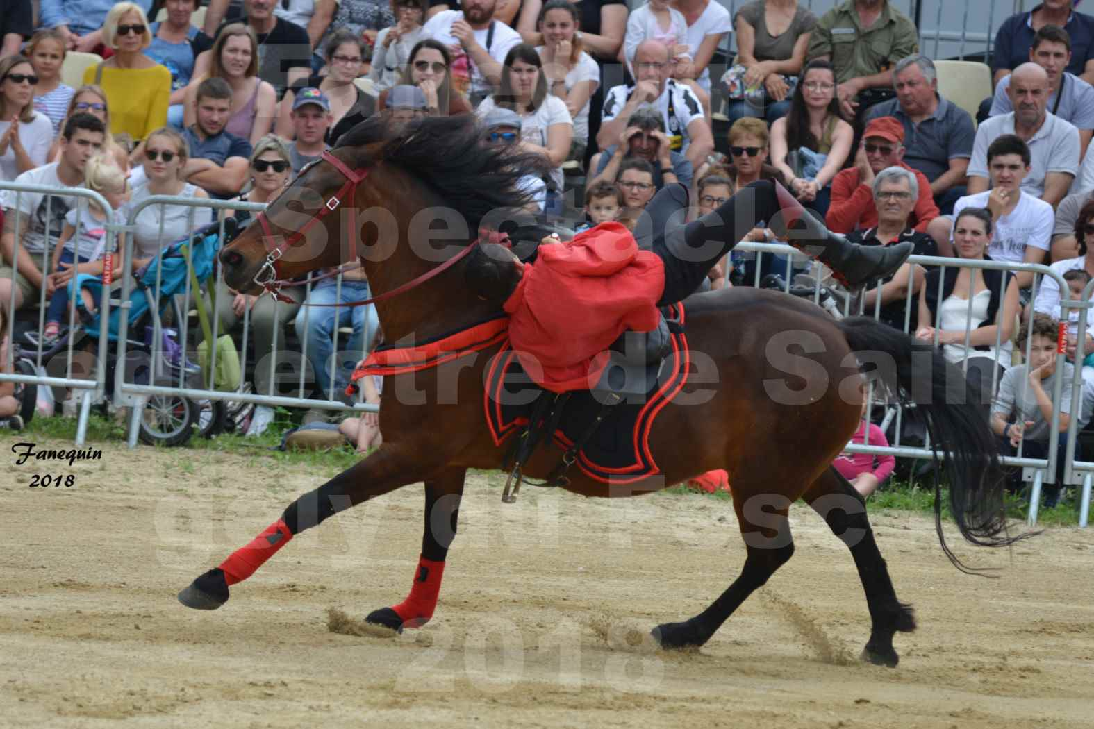 Spectacle Équestre le 3 juin 2018 à Saint Gély du Fesc - Voltige équestre - Troupe de Jean Antoine FIRMIN - 37