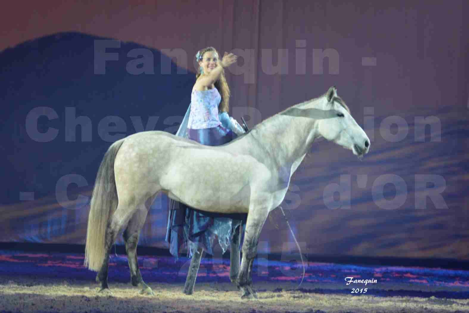 Cheval Passion 2015 - Spectacle des Crinières d'OR - Lucie VAUTHIER & 2 chevaux en liberté - 04