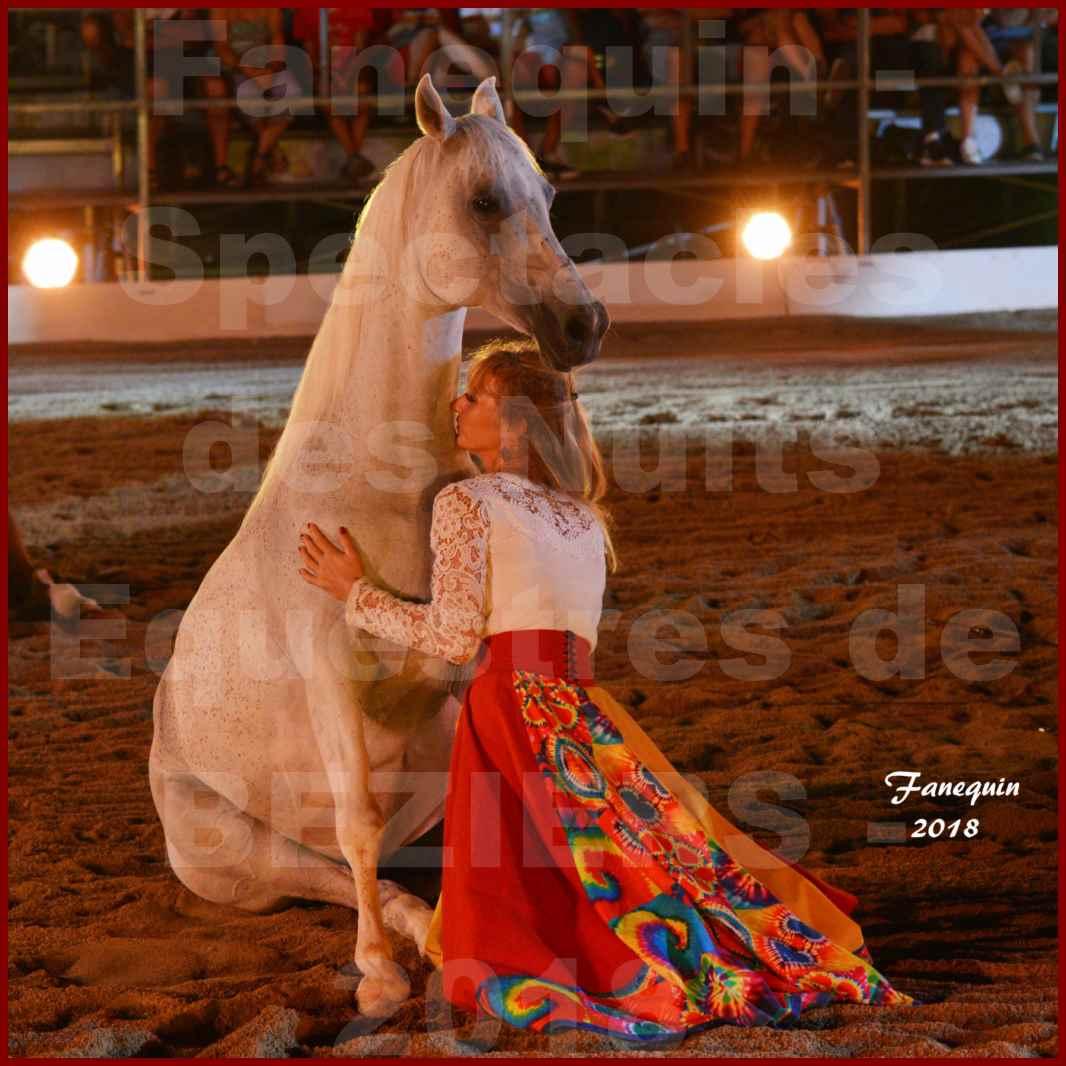 """Spectacles Équestres des """"Nuits Équestres""""  de la Féria de BÉZIERS 2018 - Sylvie WILLMS & ses chevaux en liberté - 09"""