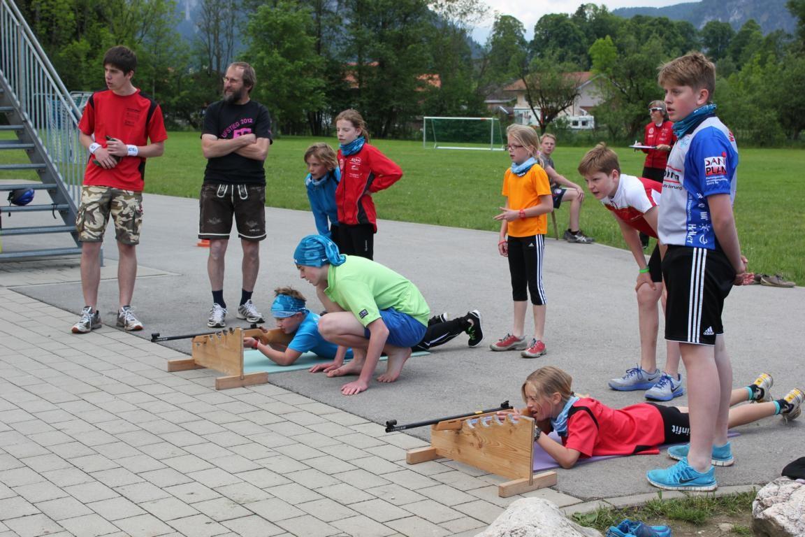 Beim Biathlon - Triathlon...