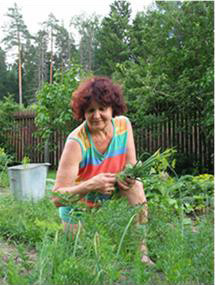 我母親瓦倫蒂娜在夏屋園地