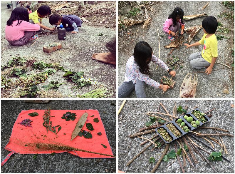圖7-孩子在自然中的創意無限