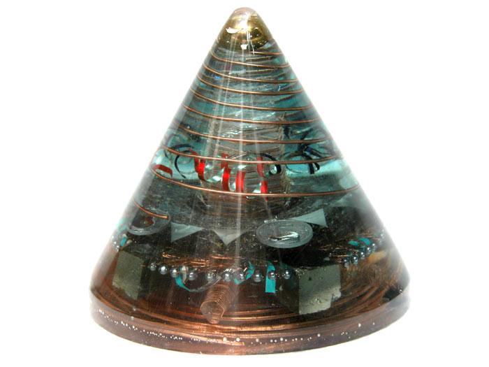 generador de orgon 'cono' altura 12,5 cm 1 cristal de cuarzo cristalino de 10 centímetros tallado en forma 'Vogel'