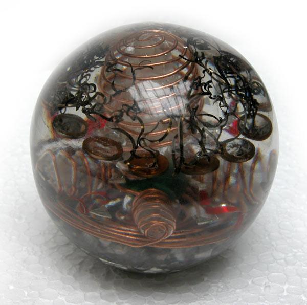 Santa Granada transparente diámetro 12 cm