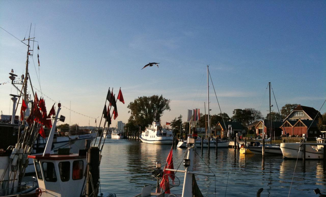 Der Niendorfer Hafen ist gleich nebenan
