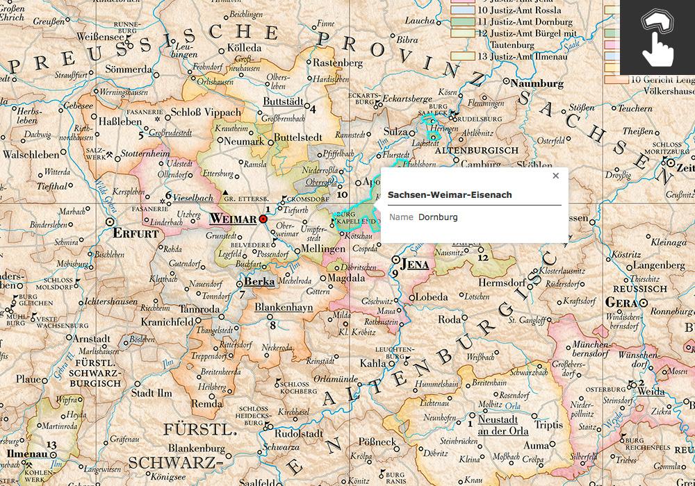 interaktive Kartenfläche