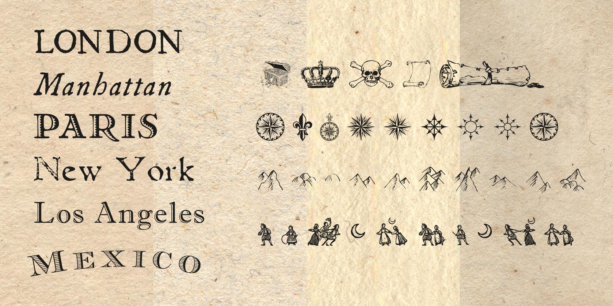 Papiere, Schriften & Dingbats