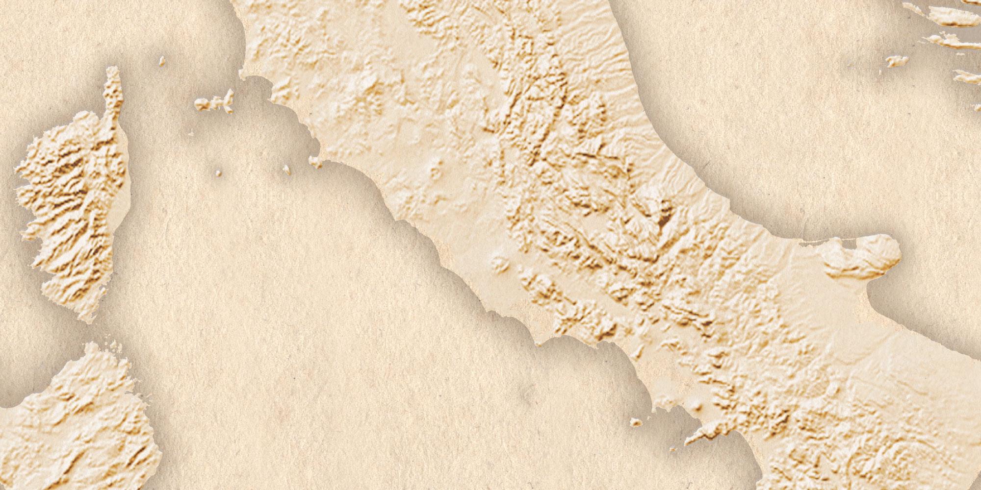 Goethe-Atlas: Hintergrundpapier und Küstenlinien