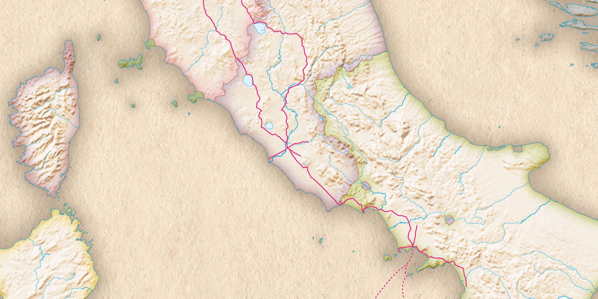 Goethe-Atlas: Gewässer, Grenzen und Flächen