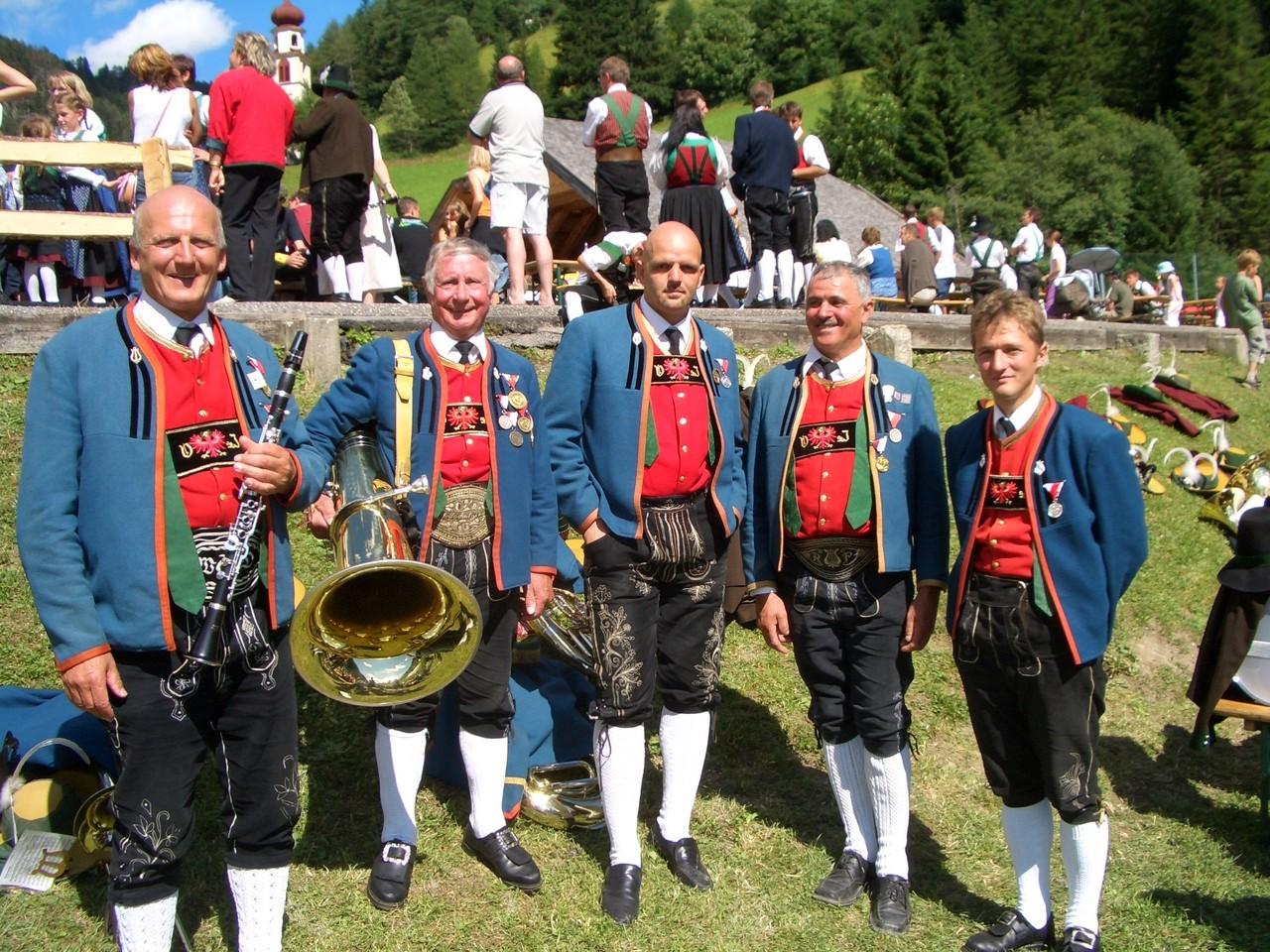 Jubilare beim Bezirksmusikfest in Navis (c) Werner Daum