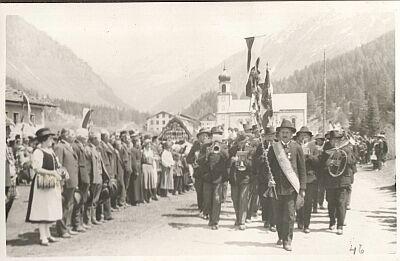 Musik in Schmirn um 1930