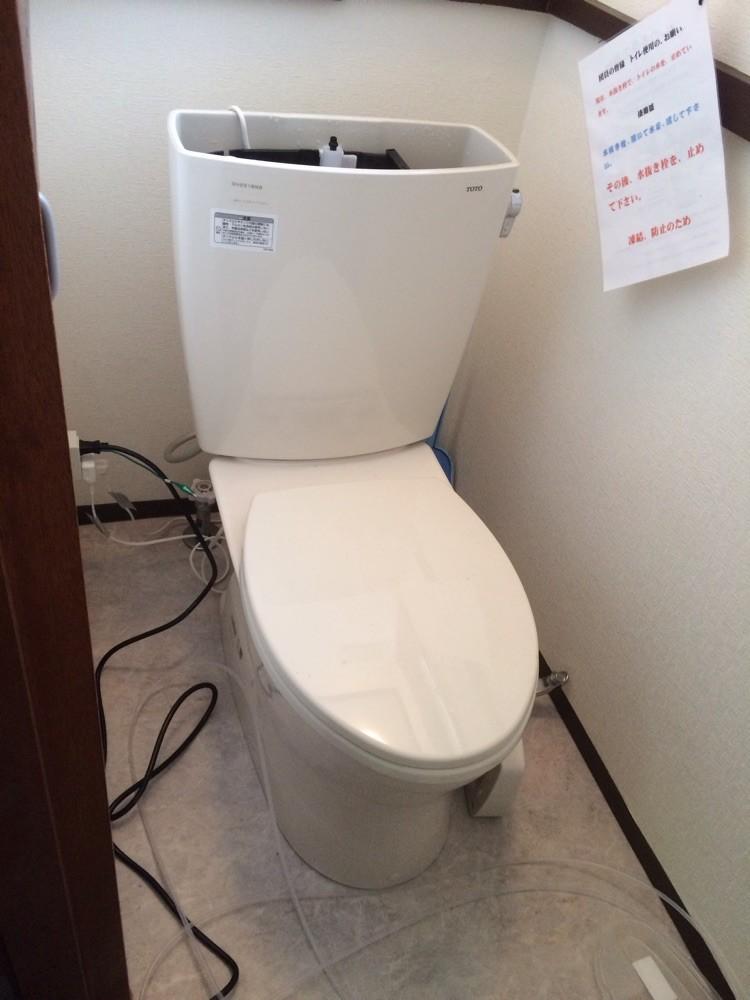 トイレが凍結Σ(・□・;)