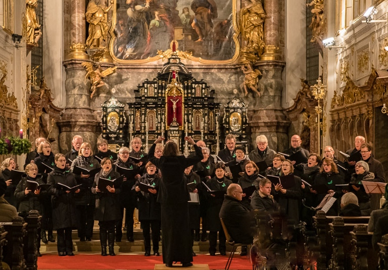 Adventskonzert Hofkirche Neuburg mit Stadtkapelle (2018 - Foto: Frank Rothe)