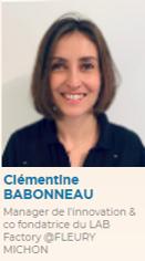 Clémentine Baboneau, Manager de l'innovation et co fondatrice du Lab Factory @Fleury Michon
