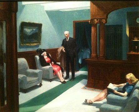 Hotel Lobby by Edward Hopper