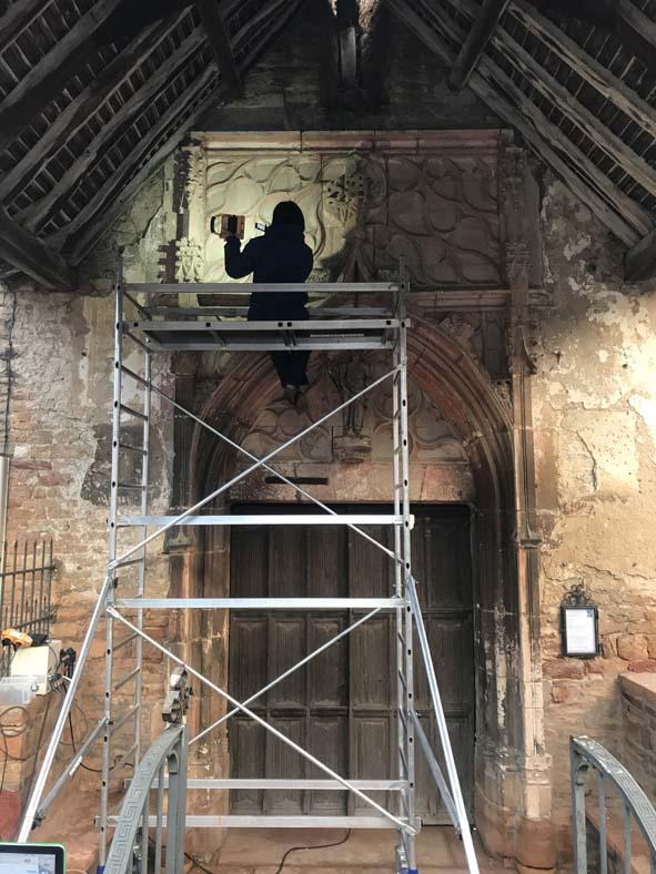 étude préalable d'un portail gothique, pour l'agence Pierre Raynaud, architecte