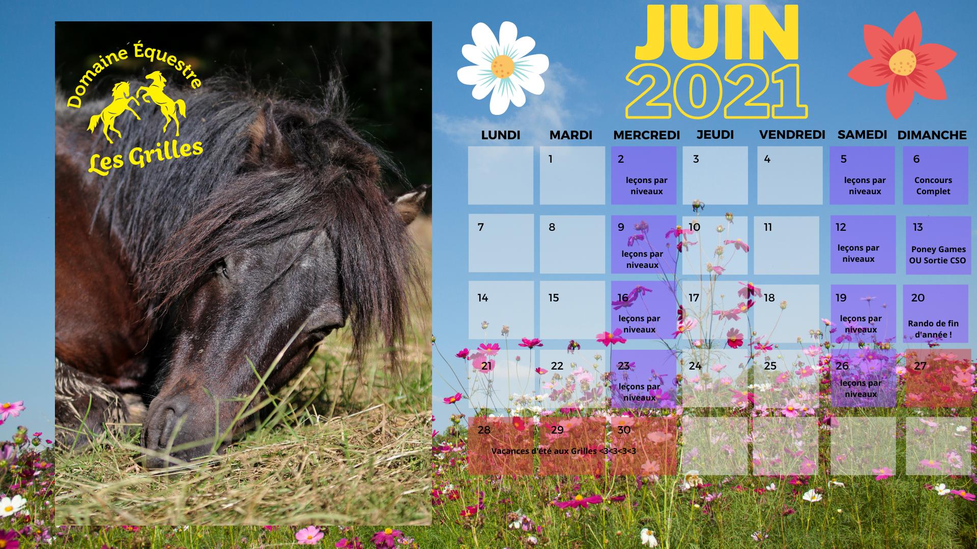 Le mois de juin aux Grilles...c'est divin !