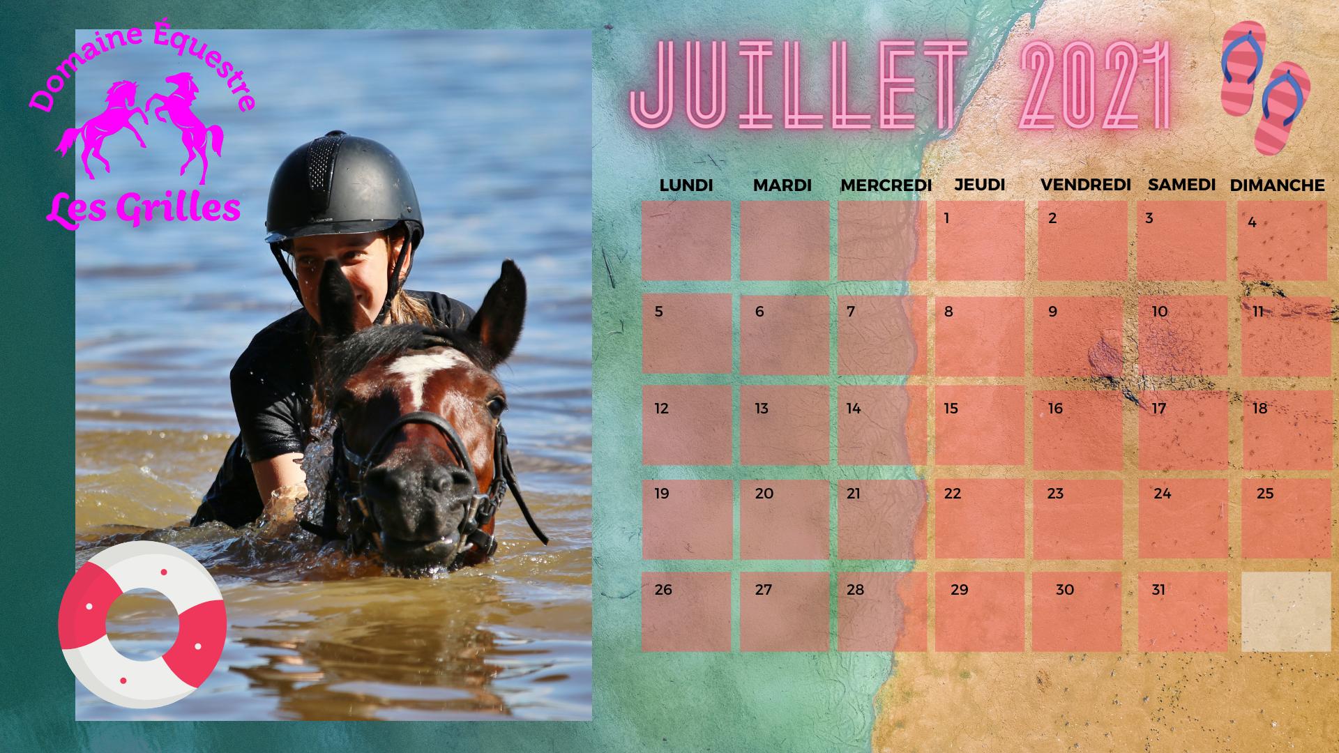 Aux Grilles au mois de juillet, c'est baignade à poney <3