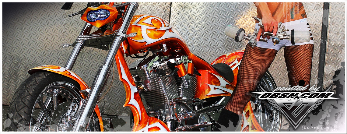 """AL""_S&S_Cycles_""Orange_Dream"" CustomBike_Walz_Penz_Airbrush"