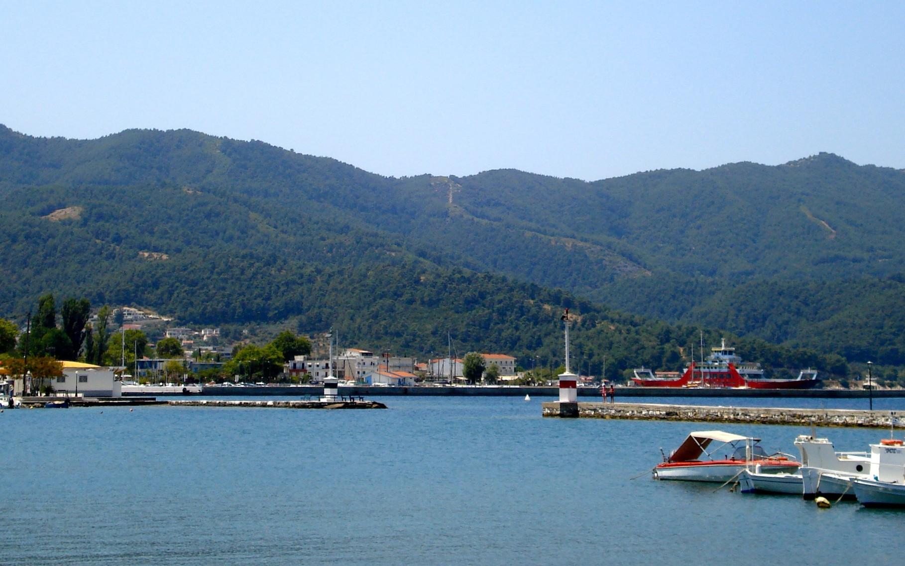 Port avec ferrys