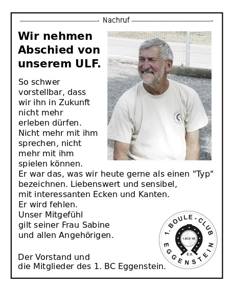 Nachruf Ulf