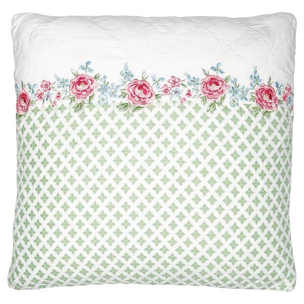 greengate kissen meryl mit sickerei 40x40cm rosamine home schweiz online shop stoff shop. Black Bedroom Furniture Sets. Home Design Ideas