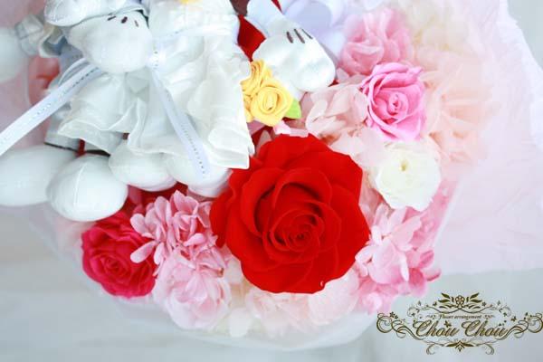ディズニープロポーズ プリザーブドフラワーの花束 セレブレーションホテル 花屋 chouchou シュシュ 舞浜 浦安 配達