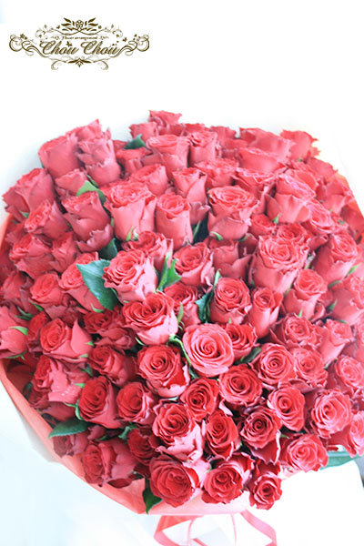 プロポーズ 108本の赤薔薇の花束 order no 181106